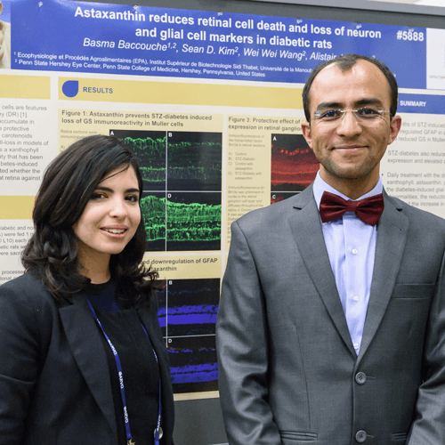 Basma Baccouche and Hashim Ali-Khan at ARVO 2017